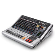 Professional 8 Channels Sound Audio Mixer with Bluetooth USB Record MP3 Jack 16 DSP DJ/Karaoke Mixer