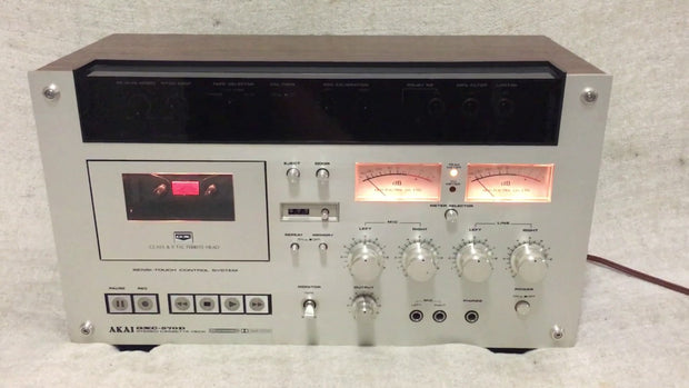 Custom padded cover for AKAI GXC-570D tape deck
