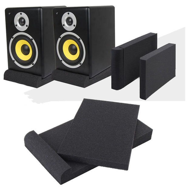 Pair of 2 High Density Dampening Acoustic Studio Monitor Isolation Pads