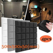 4 Pcs 500 x 500 x 50 mm Soundproof Acoustic Foam Panels