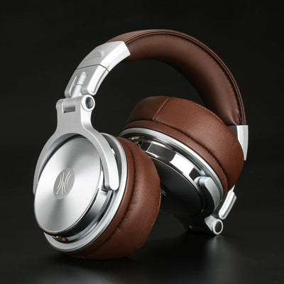 Professional Studio Pro DJ Headphones with Microphone Over Ear HiFi Monitors