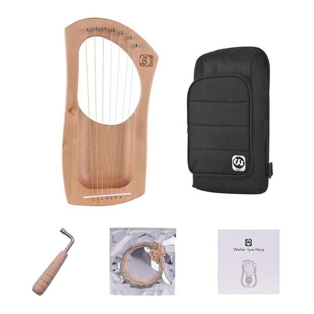 7-String Mahogany Lyre + Soft Case
