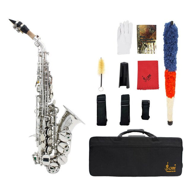 Brand New Brass Bb Soprano Saxophone with Accessories