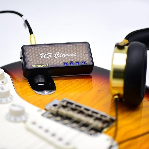 Guitar portable USB-chargeable amplifier