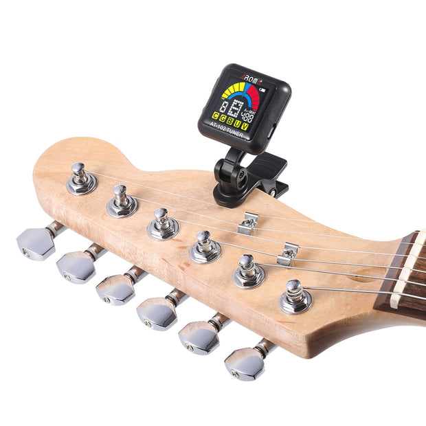 Rechargeable Clip-on Guitar Tuner (Color Screen with Built-in Battery)