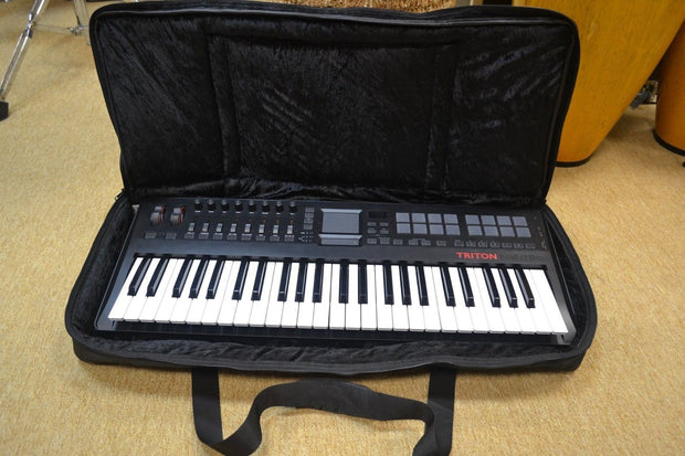 KORG Microstation 61 Key Custom Padded Keyboard and Synth Travel Bag Soft Case Inside Velvet Interior Heavy Duty Nylon Protection Slip Cover