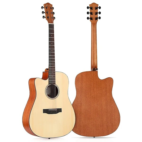 Left Handed Acoustic Guitar Cutaway 41 Inch Full Size Guitar Set