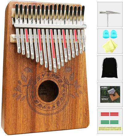 Hand-Made Premium Quality KALIMBA 17 Keys Thumb Piano