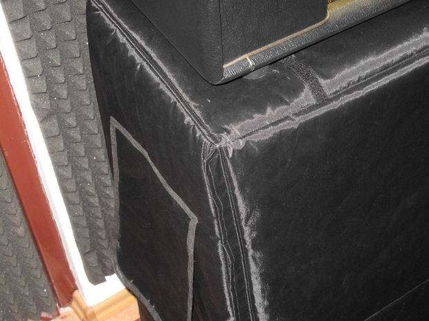 Custom padded cover w/zippers, roll-up flap for LANEY LX412S Straight cab