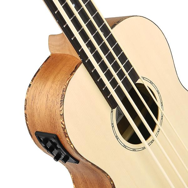 30 Inch Acoustic Electric Bass Ukulele Spruce Mahogany Body + Gig Bag