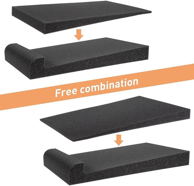 High Density Dampening Acoustic Studio Monitor Isolation Pads (Pair) 30 x 17 x 3.5 cm