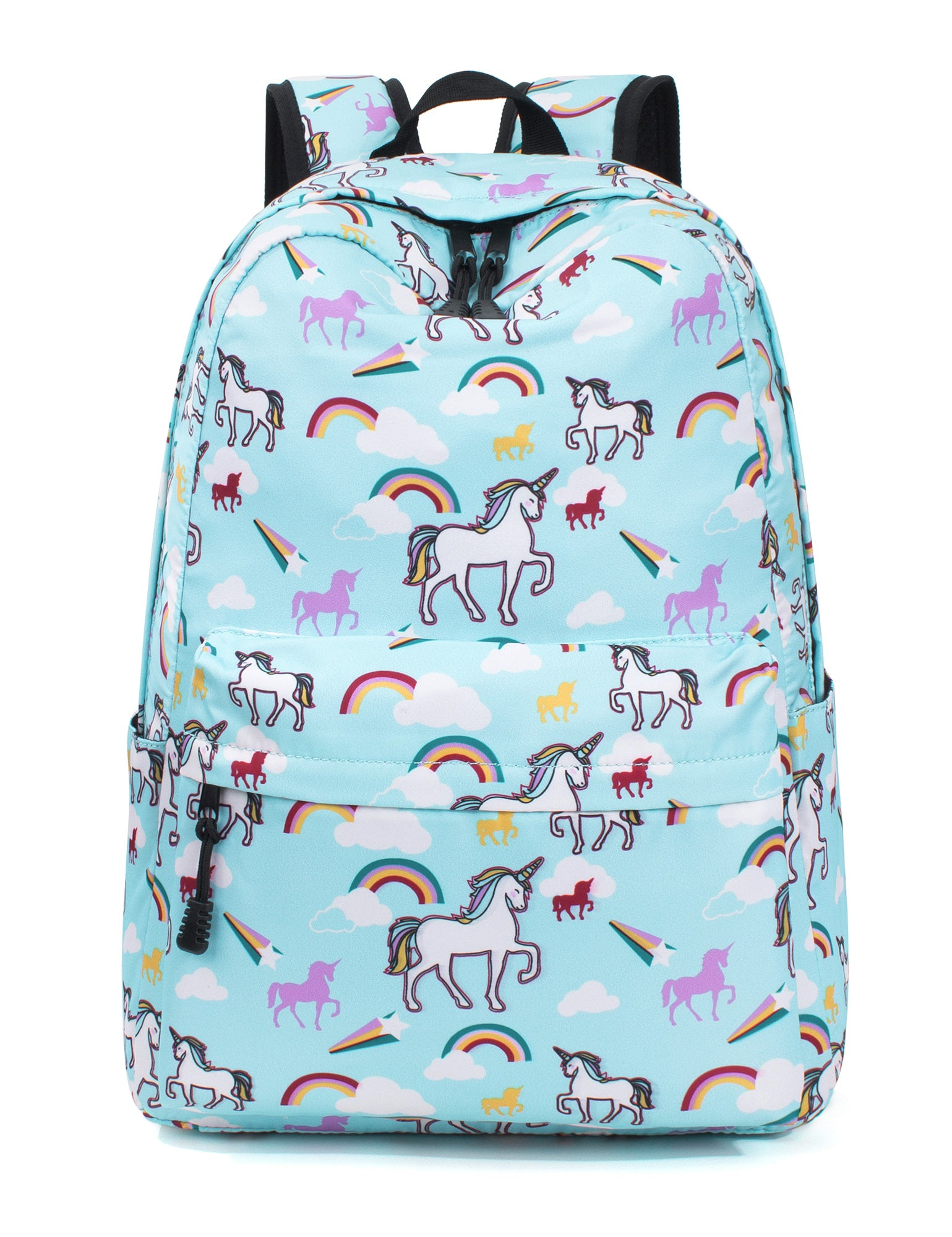 983af277316efb Load image into Gallery viewer, TOPERIN White Unicorn with Rainbow Backpack  for Girls Laptop Backpack ...