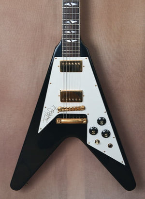 1991 Gibson Jimi Hendrix Hall of Fame Flying V Black OHSC