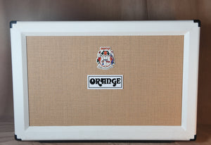 2014 Orange Anniversary Limited Edition 2x12 Cabinet White