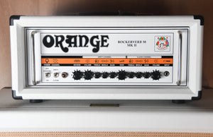 2014 Orange Anniversary Limited Edition Rockerverb 50 MKII Head White