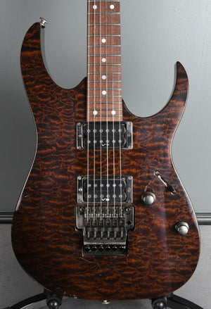 1997 Ibanez RG Series Trans Brown Quilt Finish