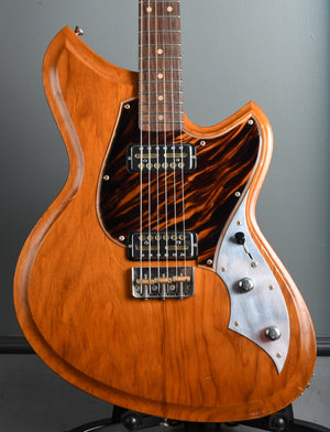 Novo Guitars Serus T90 Amber, German carve, rare Firestripe Pickguard, Lollar Gold Foils !