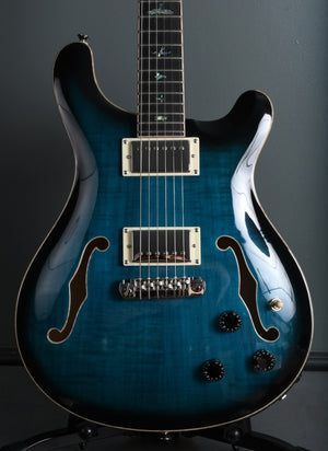 2020 PRS SE Hollowbody II Piezo Peacock Blue Burst