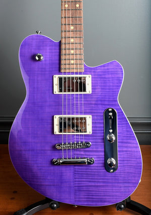2020 Reverend Charger RA *New Color* Trans Purple Flame Top