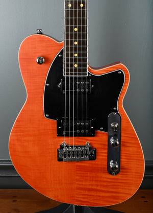 2020 Reverend Reeves Gabrels Signature Satin Orange Flame Maple