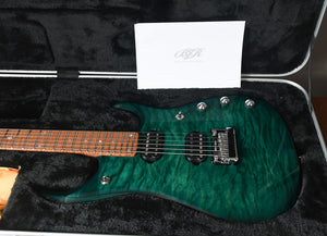 2019 Ernie Ball Music Man John Petrucci JP15 Teal Quilt Ball Family Reserve