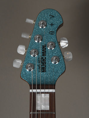 2019 Music Man St. Vincent Turquoise Crush Ball Family Reserve