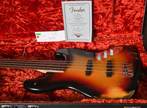 2013 Fender Custom Shop Jaco Pastorius Relic 1964 Jazz Bass Sunburst