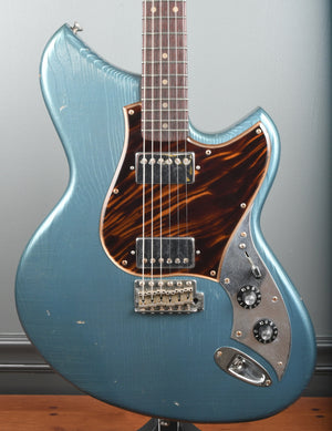 2019 Novo Guitars Serus SV Aged Pelham Blue Throbak Pickups