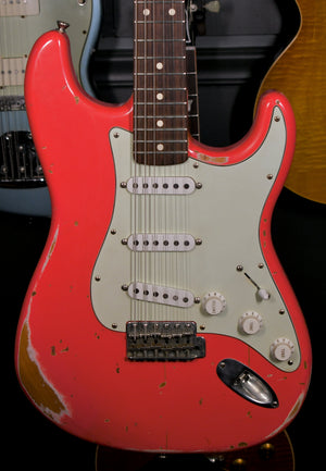 Nash Stratocaster S-63 Fiesta Red Lollar Pickups