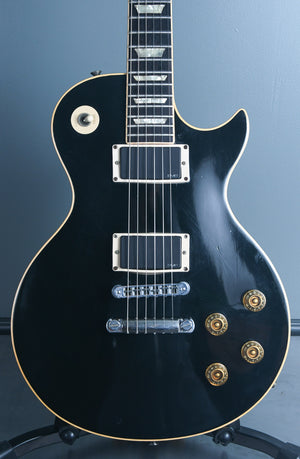 1980 Gibson Les Paul Standard Ebony with EMG's OHSC
