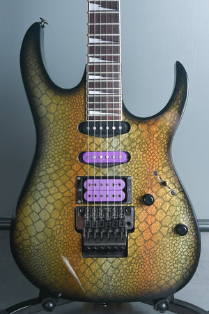1990 Ibanez USA Custom RG Series Reptile Finish OHSC