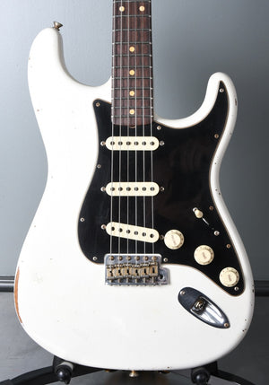2020 Fender Custom Shop Limited Edition Roasted Poblano Stratocaster Olympic White Relic