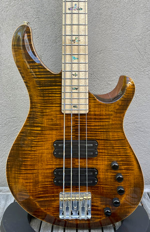 2020 Paul Reed Smith PRS Grainger 4 String Bass Yellow Tiger