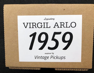 Model 1959 - Virgil Arlo P.A.F. Humbucker Set - Uncovered Zebra