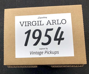 Virgil Arlo Model 1954 Strat Pickups - Black Covers, Vintage Tone