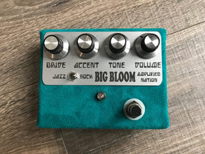 Amplified Nation Big Bloom Overdrive Pedal Jade Suede