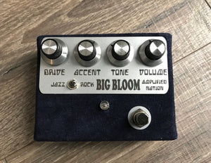 Amplified Nation Big Bloom Overdrive Pedal Navy Blue Suede