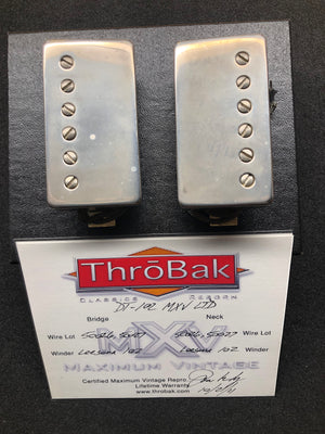 ThroBak DT-102 MXV Ltd PAF set with aged Nickel covers