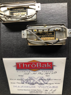 ThroBak SLE-101 Plus MXV Ltd PAF set with aged Nickel covers