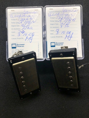 Seymour Duncan Custom Shop AlNiCo II PAF set with aged nickel Covers