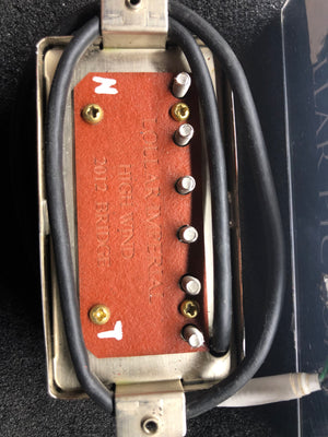 Lollar High Wind Imperial bridge pickup with shiny Nickel Cover