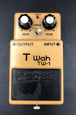 Boss TW-1 T Wah Silver Screw with ACA-120 power
