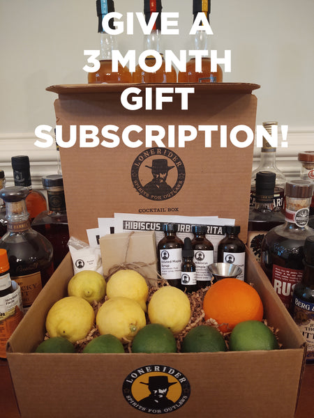 Lonerider Spirits Bundled Bourbon Cocktail Box - 3 Month Gift Subscription