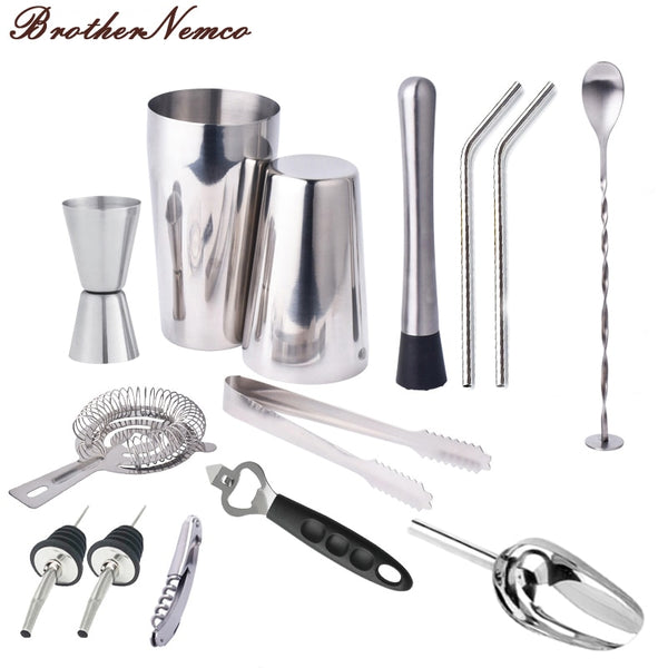 14 piece premium barware set (600ml and 750ml shaker capacity)