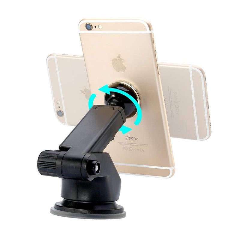 BASEUS Solid Series 360° Rotation Telescopic Magnetic Phone Car Mount Stand - Silver Color