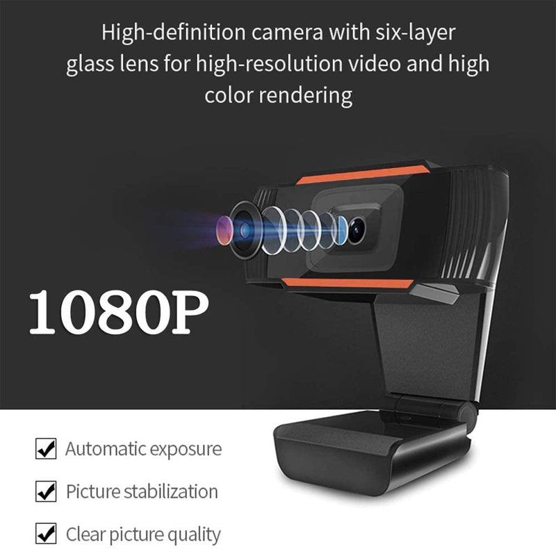 Webcam with Microphone 1080P Full HD Web Camera