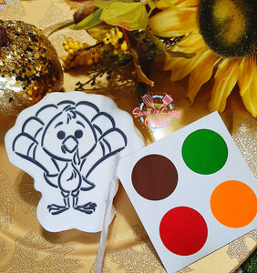 *DOZEN* Paint Your Own Cookie - Turkey