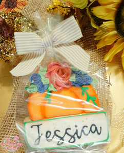 Personalized Floral Pumpkin