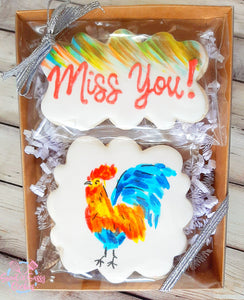 """Miss You' Rooster Gift Box"