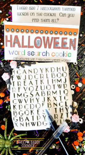 Word Search + Edible Pen
